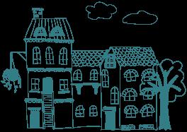 graphic of neighbourhood houses