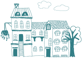 graphic of neighbourhood houses