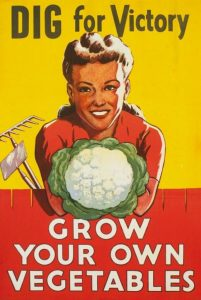 Dig for victory, grow your own vegetables.